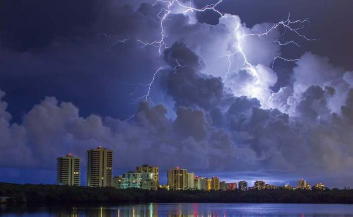 Lightning Storm Over Singer Island Florida